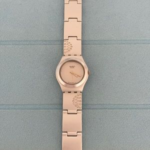 Swatch watch with crystals
